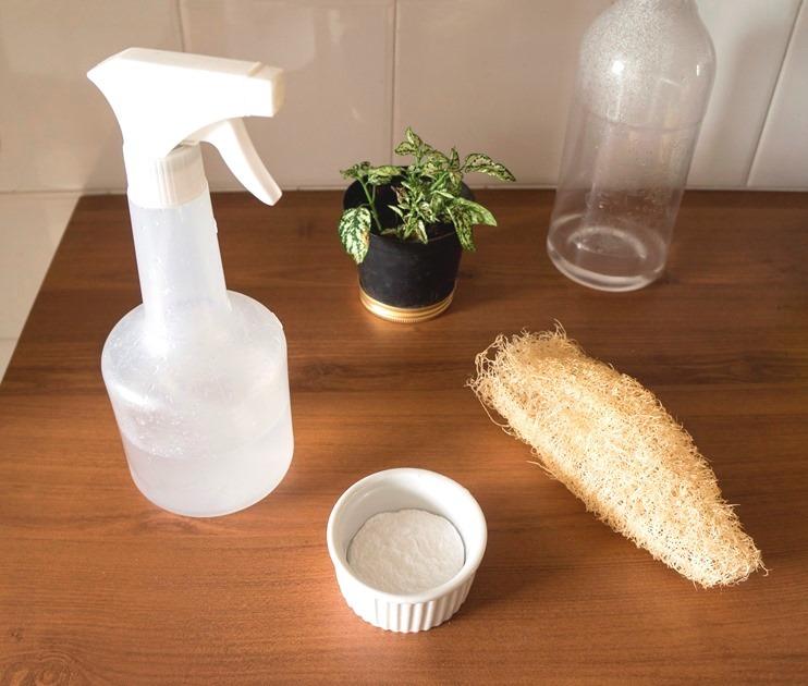 Limpeza com ingredientes naturais