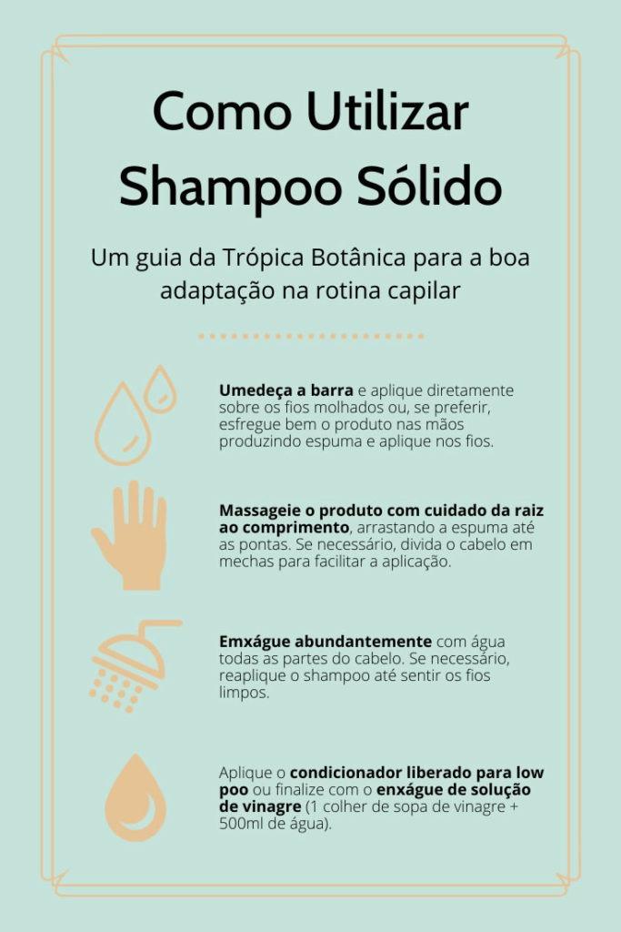 como utilizar shampoo em barra vegano
